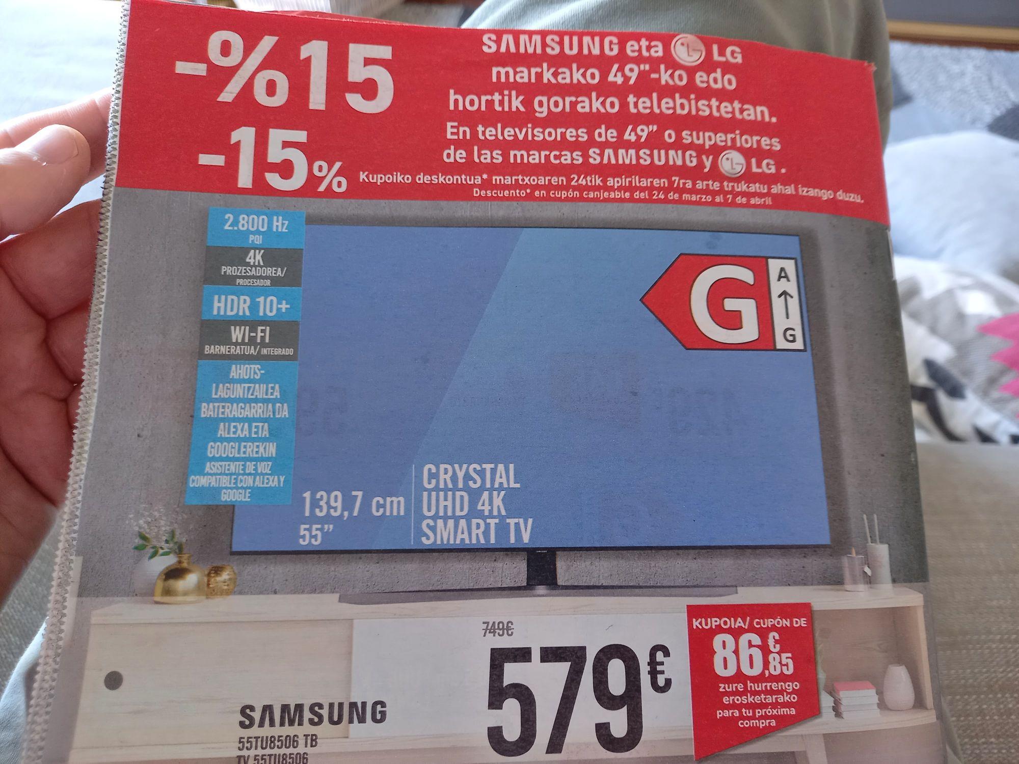TV 4K Crystal UHD 55TU8506 Dual Led + HDR 10+