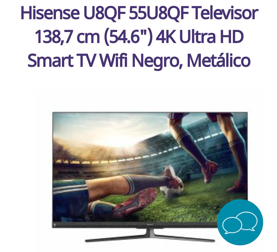 """Hisense U8QF 55U8QF Televisor 138,7 cm (54.6"""") 4K Ultra HD"""