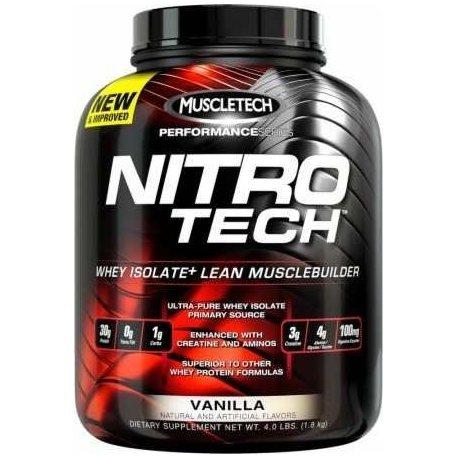 Nitro-Tech MuscleTech - Proteína de suero 1.8KG (Vainilla y Mocha Cappucino) + Envio Gratis