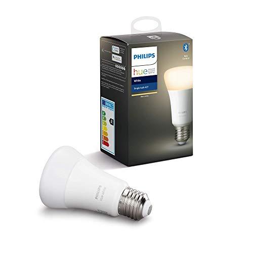 Philips Hue Bombilla Inteligente LED E27 Blanca Cálida (Compatible con Alexa y Google Home)