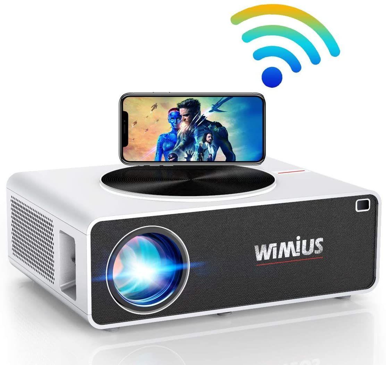 Proyector WiFi 1080P, WiMiUS 7200 Lúmenes Proyector WiFi Full HD 1920×1080P