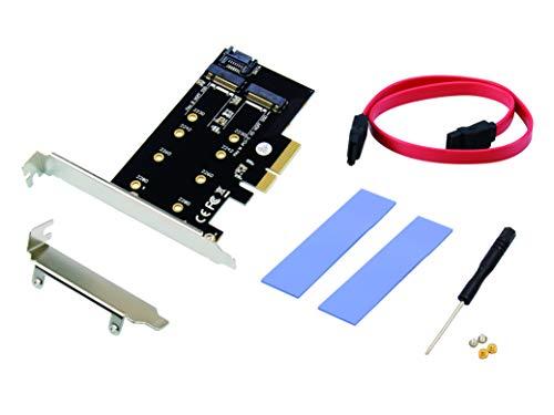 Adaptador de Tarjeta PCIe para tener 2 puertos M.2