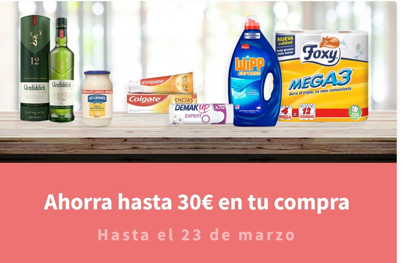 Ahorra hasta 30€ en tu compra Todas las promociones son acumulables