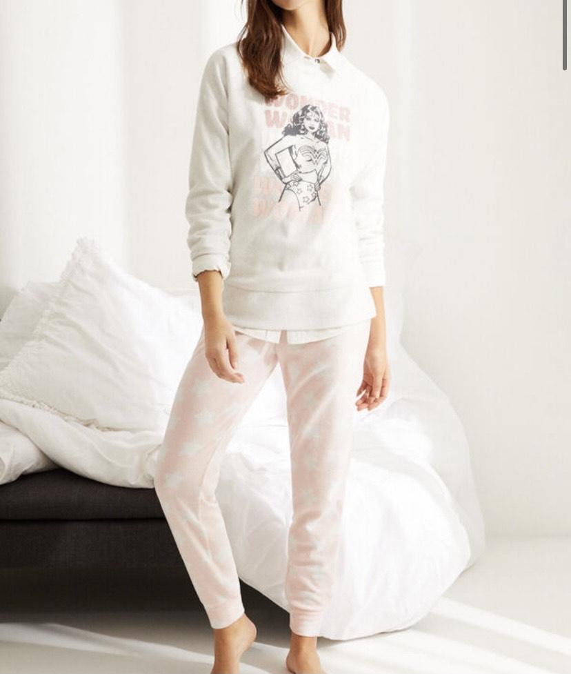 Pijama manga larga polar Wonder Woman talla XL