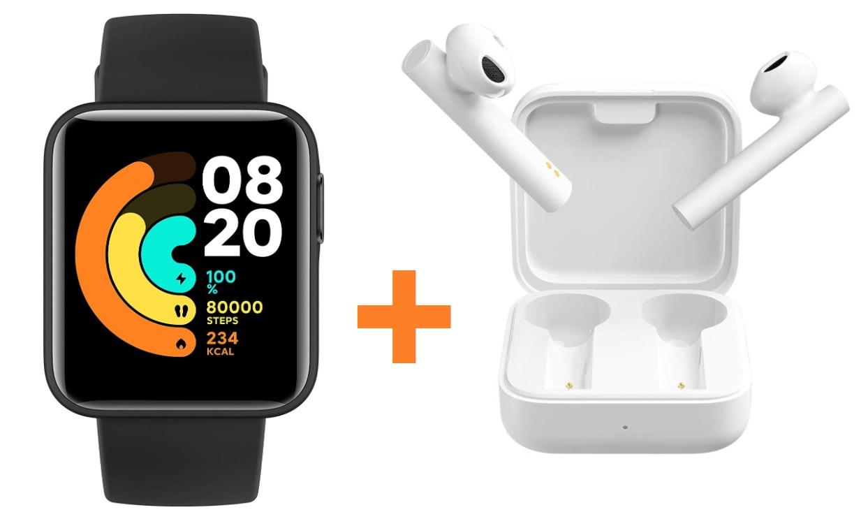 Mi Watch Lite + Mi Air2 SE por 50,9€ (47,3€ con AEKOLJAN2) (desde España)