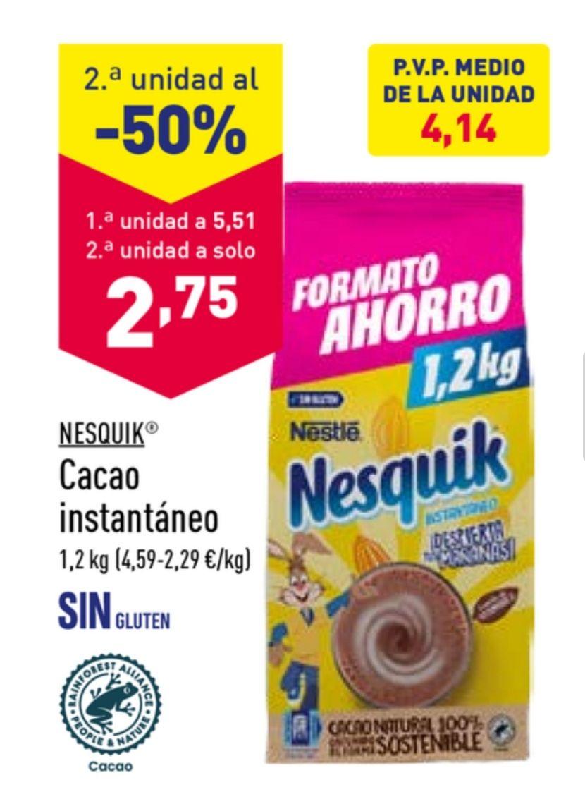 2 paquetes de Nesquik de 1,2 Kg