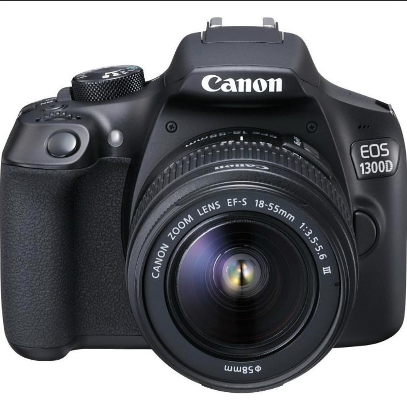 Canon 1300D con objetivo 18-55mm