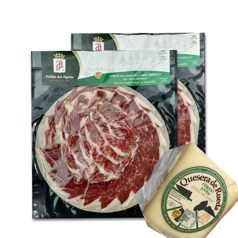 1kg de jamón ibérico de cebo de campo (etiqueta verde) con REGALO de 750gr de QUESO