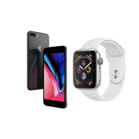 (Reacondicionado): Apple iPhone 8 Plus 64GB Gris Espacial + Apple Watch Series 4 GPS 40mm Plata