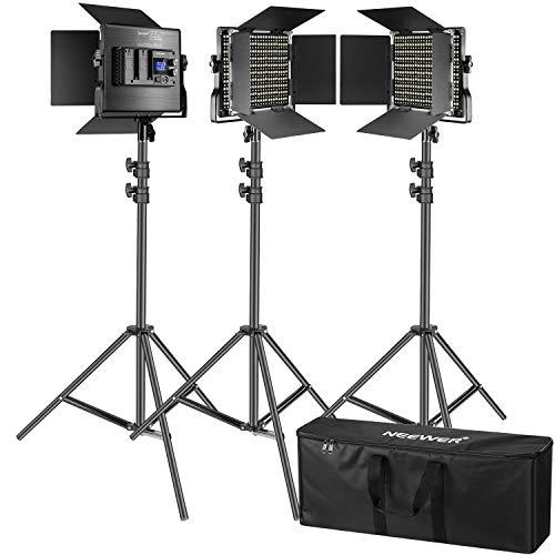 Neewer 3 Packs 660 Luces Video LED (Panel Regulable 3200-5600K CRI96)