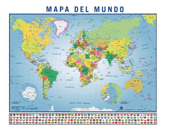 Mapa del Mundo con Banderas - Grupo Erik Editores