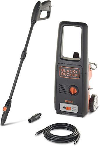 Black+Decker BXPW-1500-E Bricolaje hidrolimpiadora, Acero Inoxidable, Negro