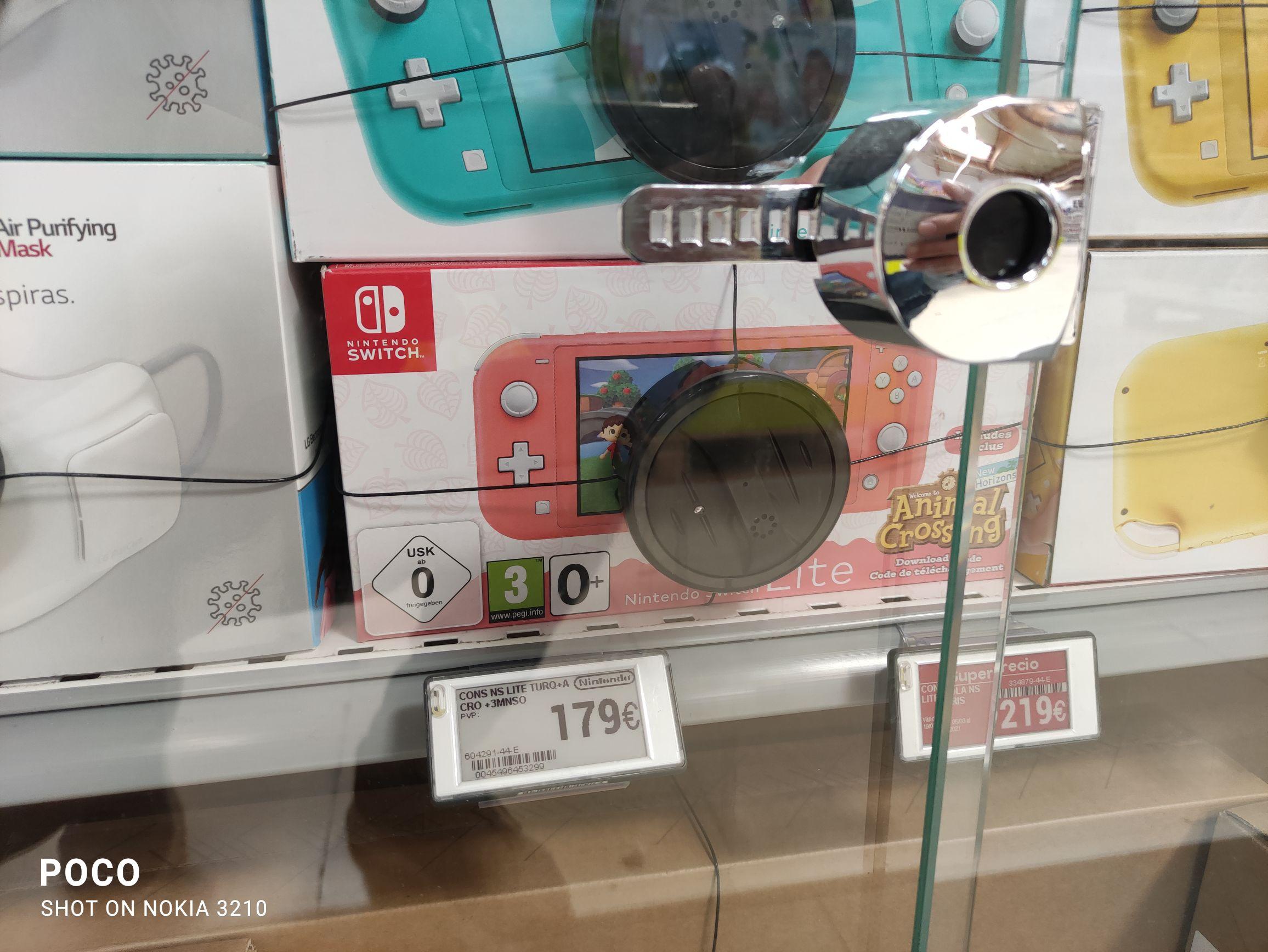 Nintendo Switch Lite Coral o Turquesa + Animal Crossing digital +3 meses suscripción