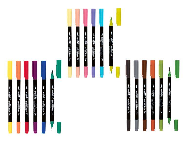 Rotuladores con punta pincel de LIDL