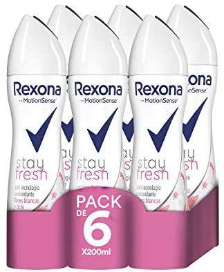 Pack 6x200ml Rexona Stay Fresh Flores Blancas y Lichi(compra recurrente)