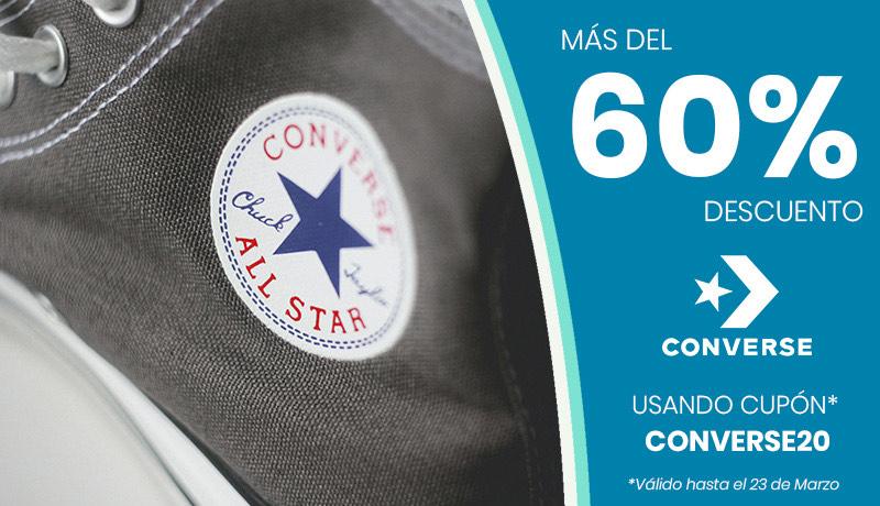 Hasta -60% en Converse (web Dakonda)
