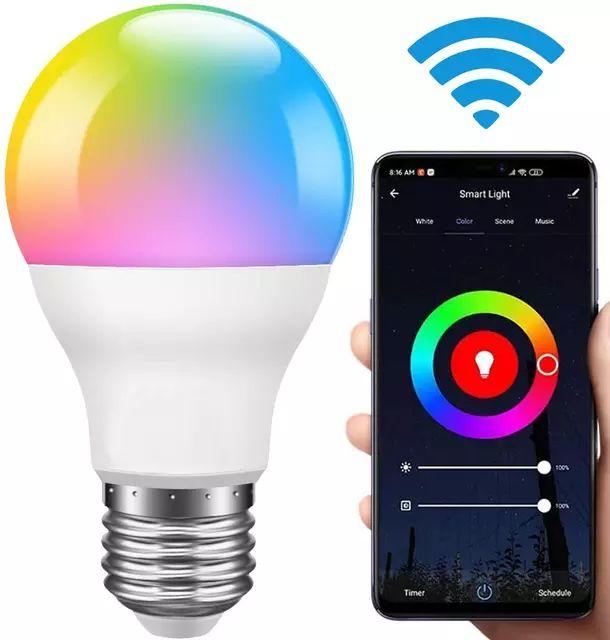 Bombilla inteligente E27 LED RGBW que cambia de Color