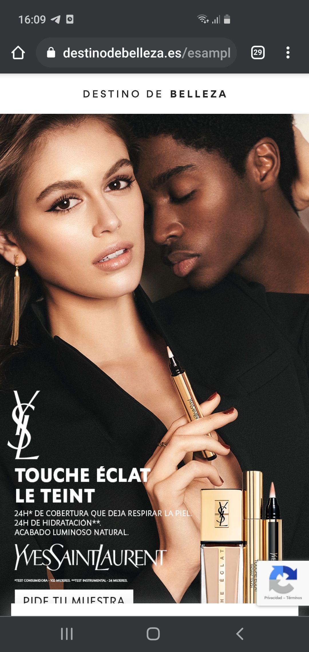 Muestras gratis maquillaje Yves Saint Laurent