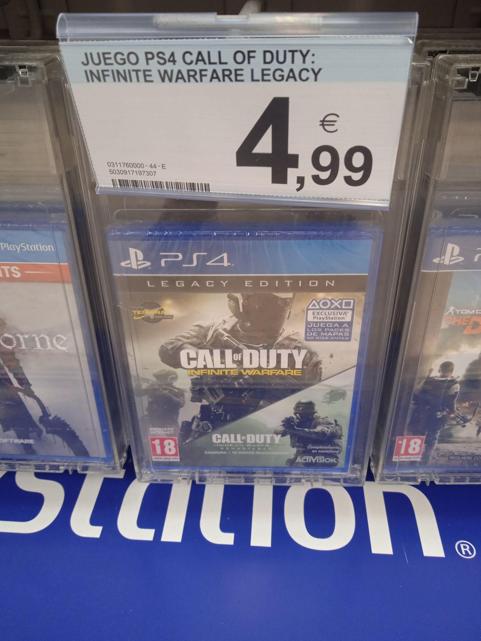 Call Of Duty Infinite Warfare + Call Of Duty Modern Warfare en CC Norte Jerez de la Frontera