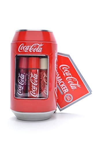 Caja de metal de Coca Cola con 6 bálsamos labiales de aromas EN MINIMO.