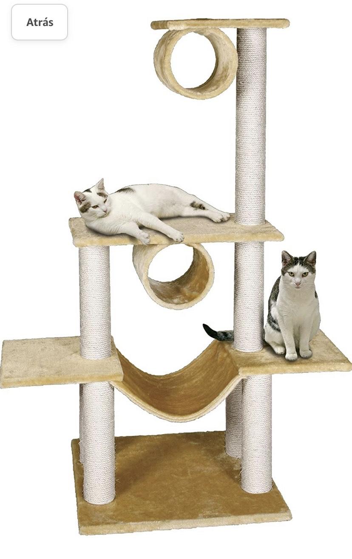 Rascador para gatos K&F SCR.POLE VICTORIA BEIGE 103x57x141
