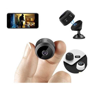 Minicámara IP A9 P2P con WIFI, HD, 1080P, visión nocturna, Sensor De Detección De Movimiento de seguridad
