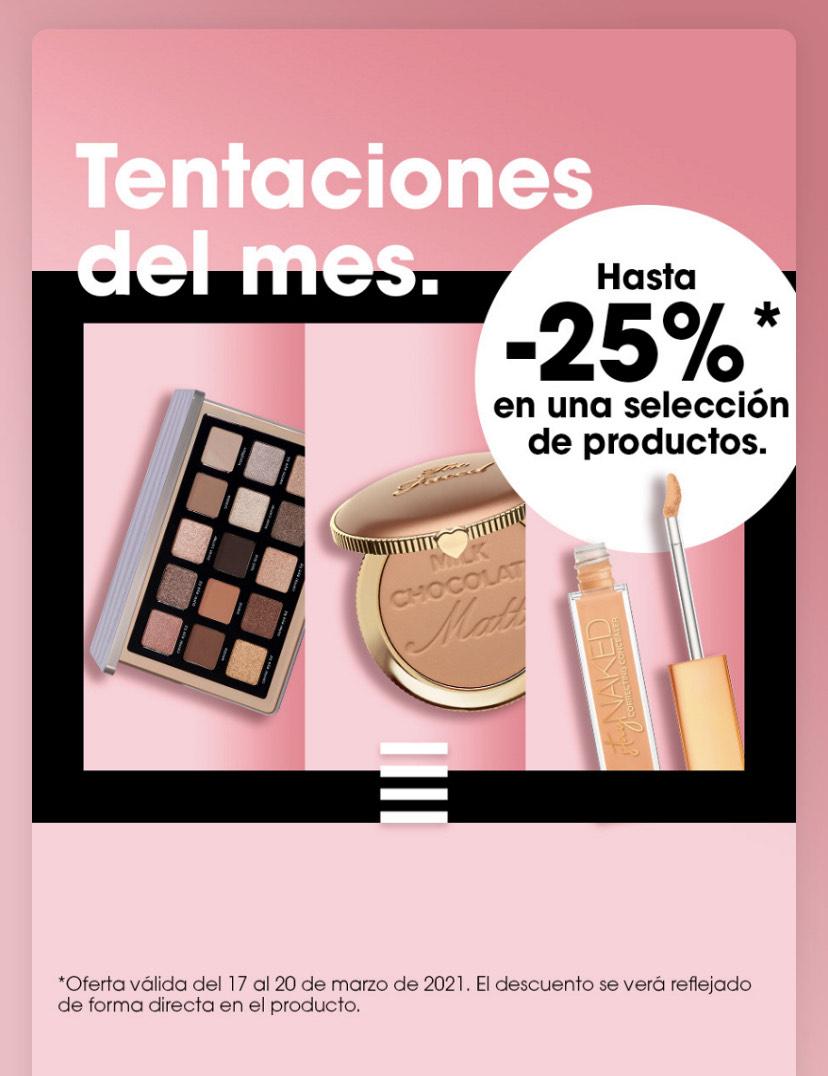 Hasta -25% en tentaciones del mes en Sephora