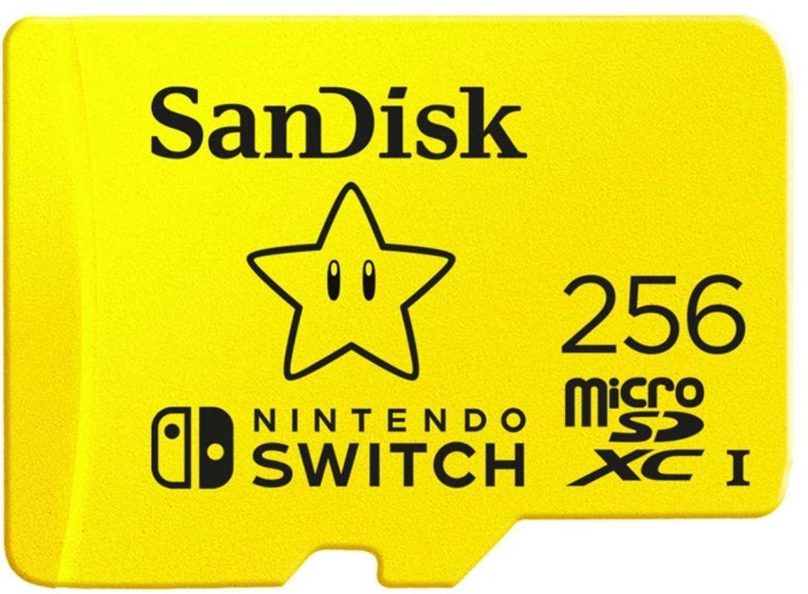 Tarjeta Micro SD SanDisk 256GB Version Estrella Mario