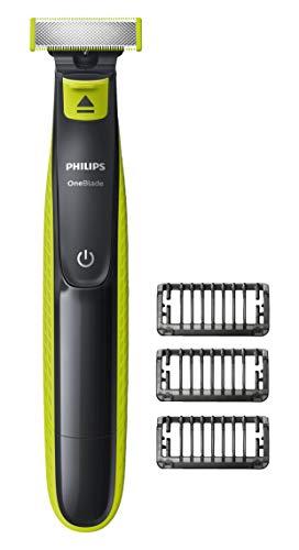 Philips OneBlade QP2520/20 - Depiladoras para la barba (1 mm, 5 mm, Carbón vegetal, Cal, 45 min, Integrado, Níquel-metal hidruro (NiMH))