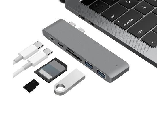 HUB USB Doble puerto tipo C para macbook