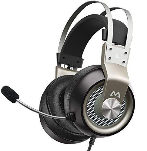Auriculares Gaming, LED para Juegos, Sonido Envolvente Virtual 7.1, 3.5mm USB