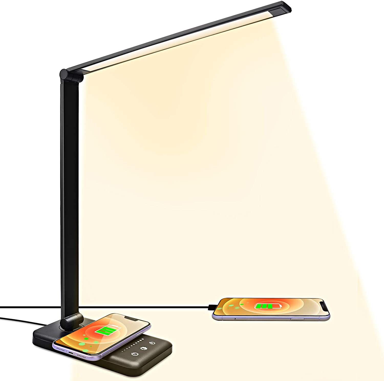 Lámpara Led De Escritorio Con Cargador InalÁMbrico