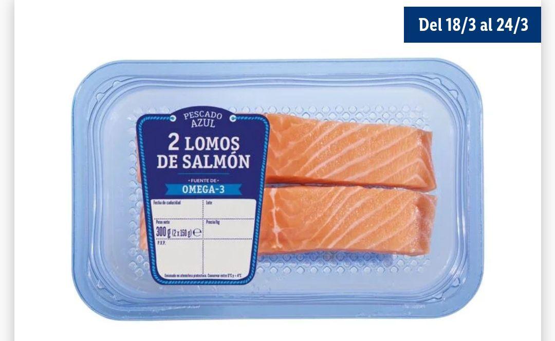 2 Lomos de salmón 2 x150 Gr