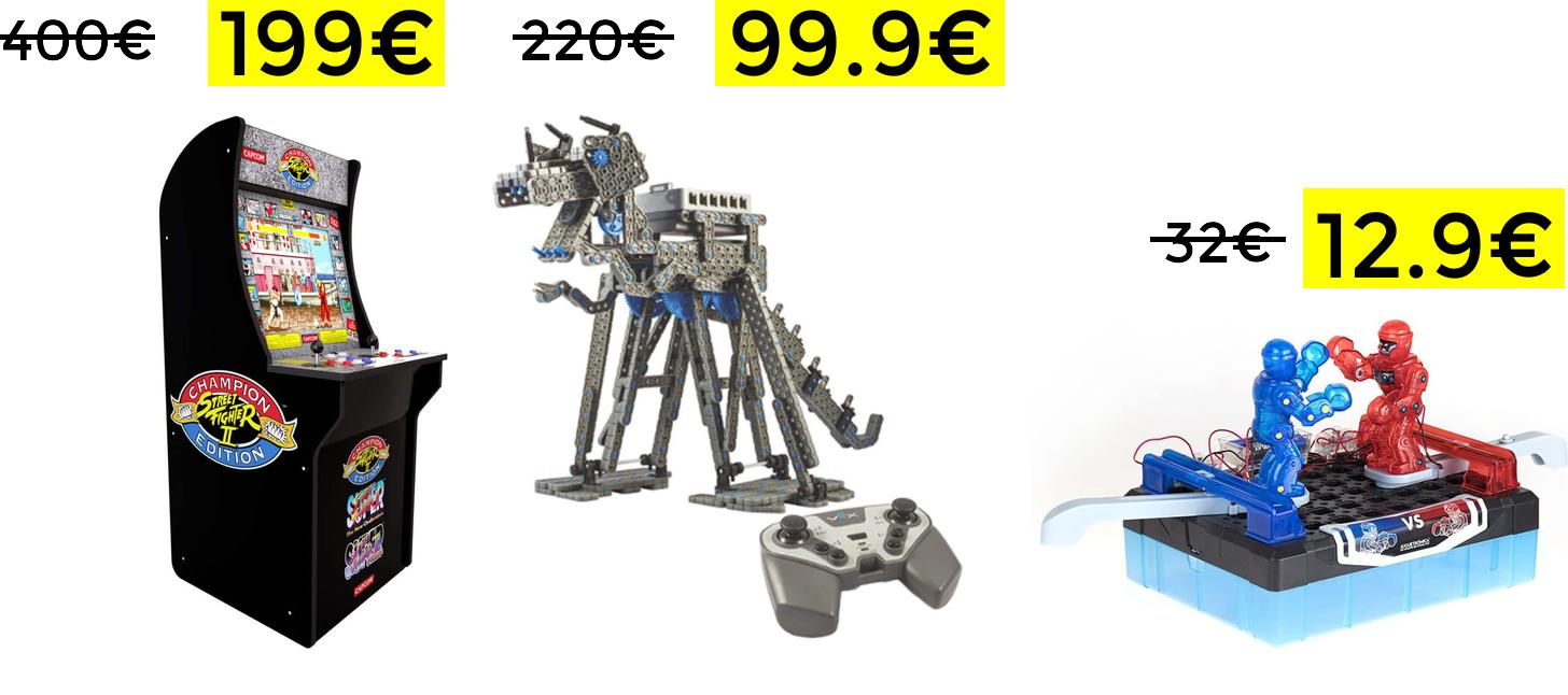Liquidación en robots y juguetes electrónicos