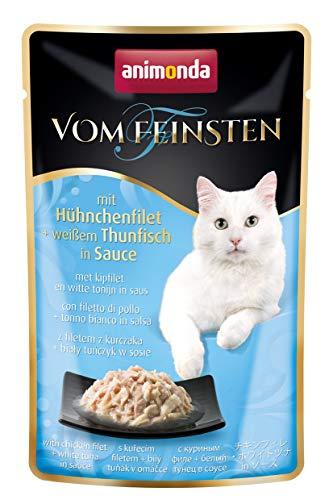 Animonda Vom Feinsten Adult gatos, pollo y atun claro salsa, 18 x 50g