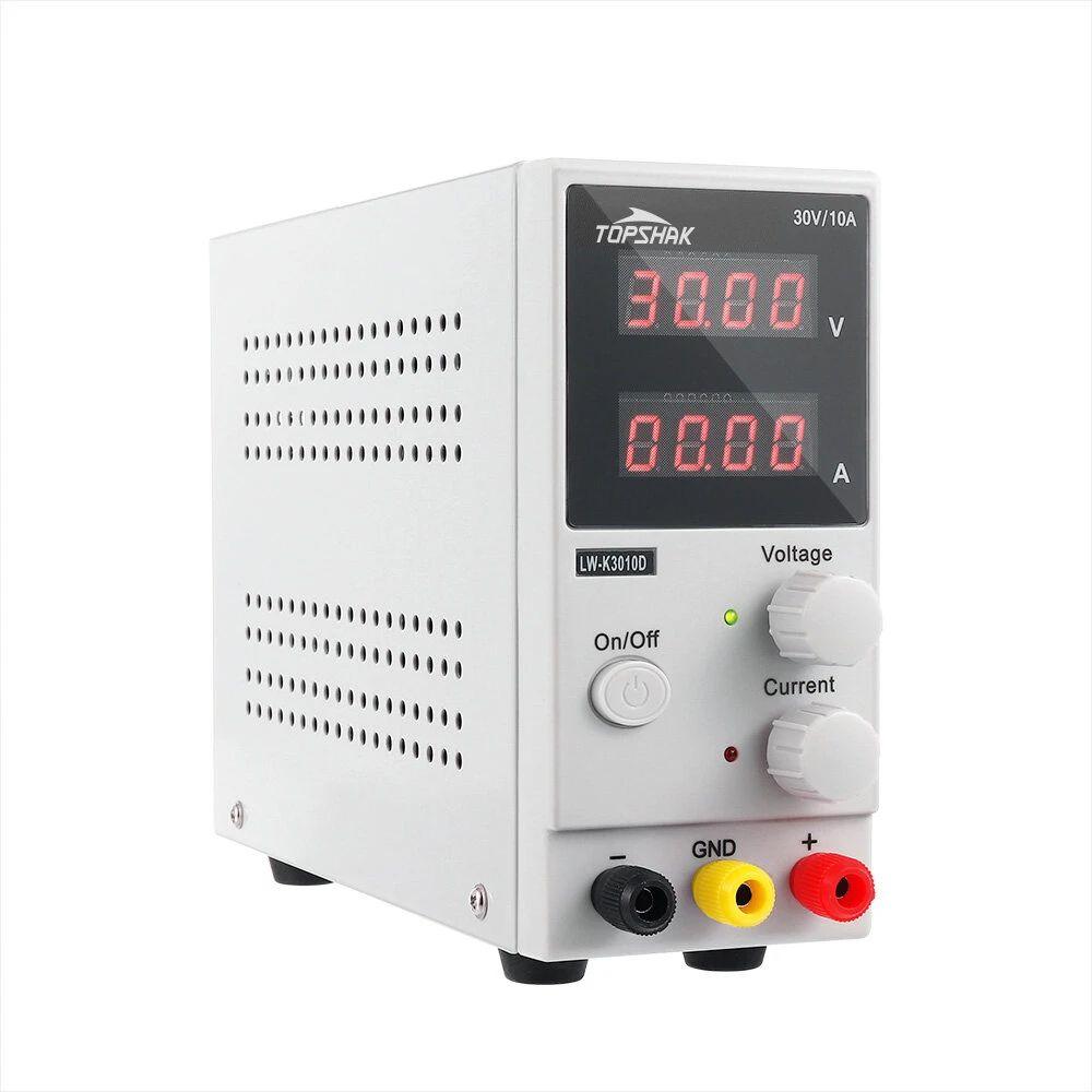 TOPSHAK K3010D Pantalla LED de 4 dígitos 110 V / 220 V 30 V 10A Fuente de alimentación