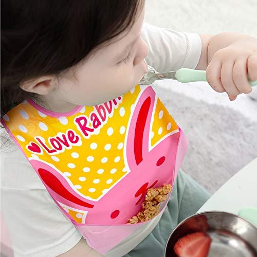 8 Piezas Baberos, con Mangas Impermeable EVA Unisex para Bebé 6 Meses a 6 Años