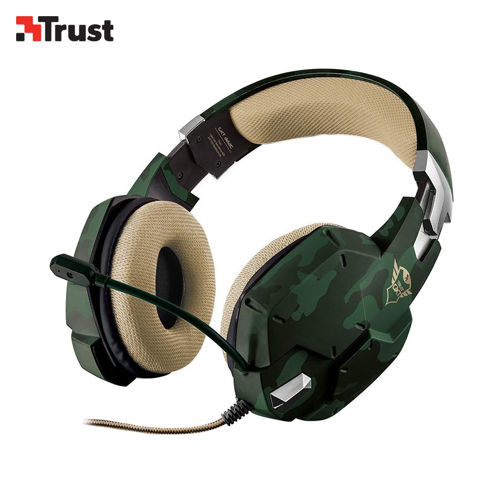 Sonido fino filipino Headset Trust GXT 322 Carus Gaming color camuflaje