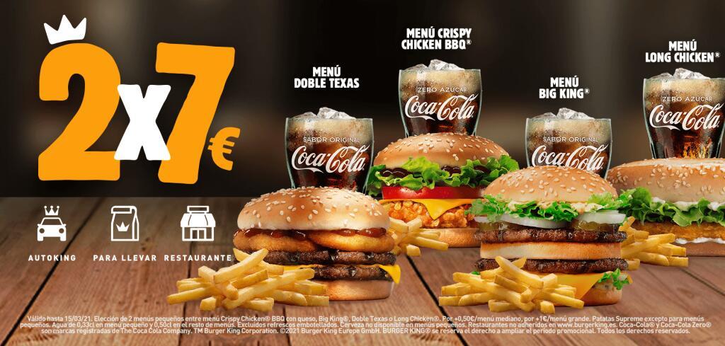 2 x 7 € en Burger King