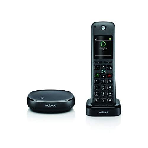 """Teléfono - Motorola AX, Alexa integrada, Pantalla 2.0"""", Manos libres, Negro"""