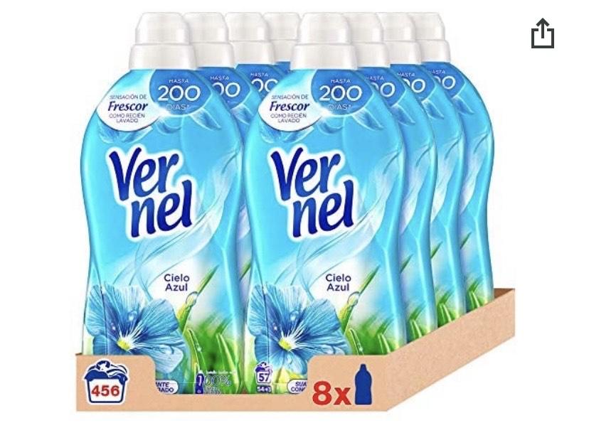 Vernel Detergente Suavizante Concentrado Ropa Cielo Azul, 57 Dosis - Total 456 Lavados