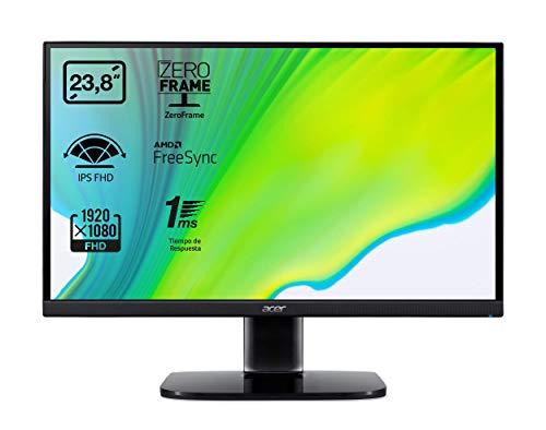 "Monitor - Acer KA242Y, 23.8"", 1ms, Full HD 1920 x 1080, HDMI, FreeSync, 250 cd/m², 75 Hz, IPS, Negro"