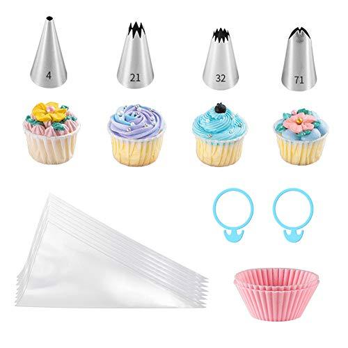 16PCS- Accesorios de repostería Profesional con moldes pequeños para Cupcakes