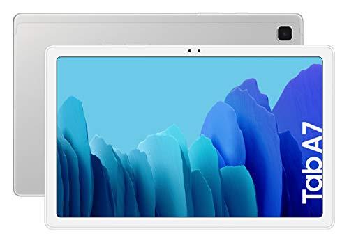 """SAMSUNG Galaxy Tab A 7, 10.4"""" FullHD, Snapdragon 662, RAM 3GB, Almacenamiento 32GB, Android actualizable, Color Plata [Versión española]"""