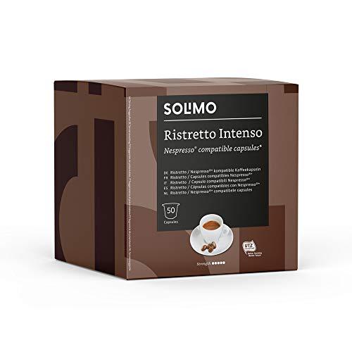 Solimo Cápsulas Ristretto Intenso, compatibles con Nespresso - 100 cápsulas (2 x 50)