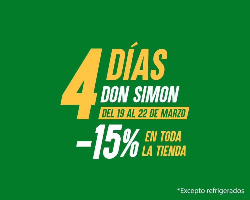 15% dto + 20% adicional en primera compra + regalo en la web de Don Simón
