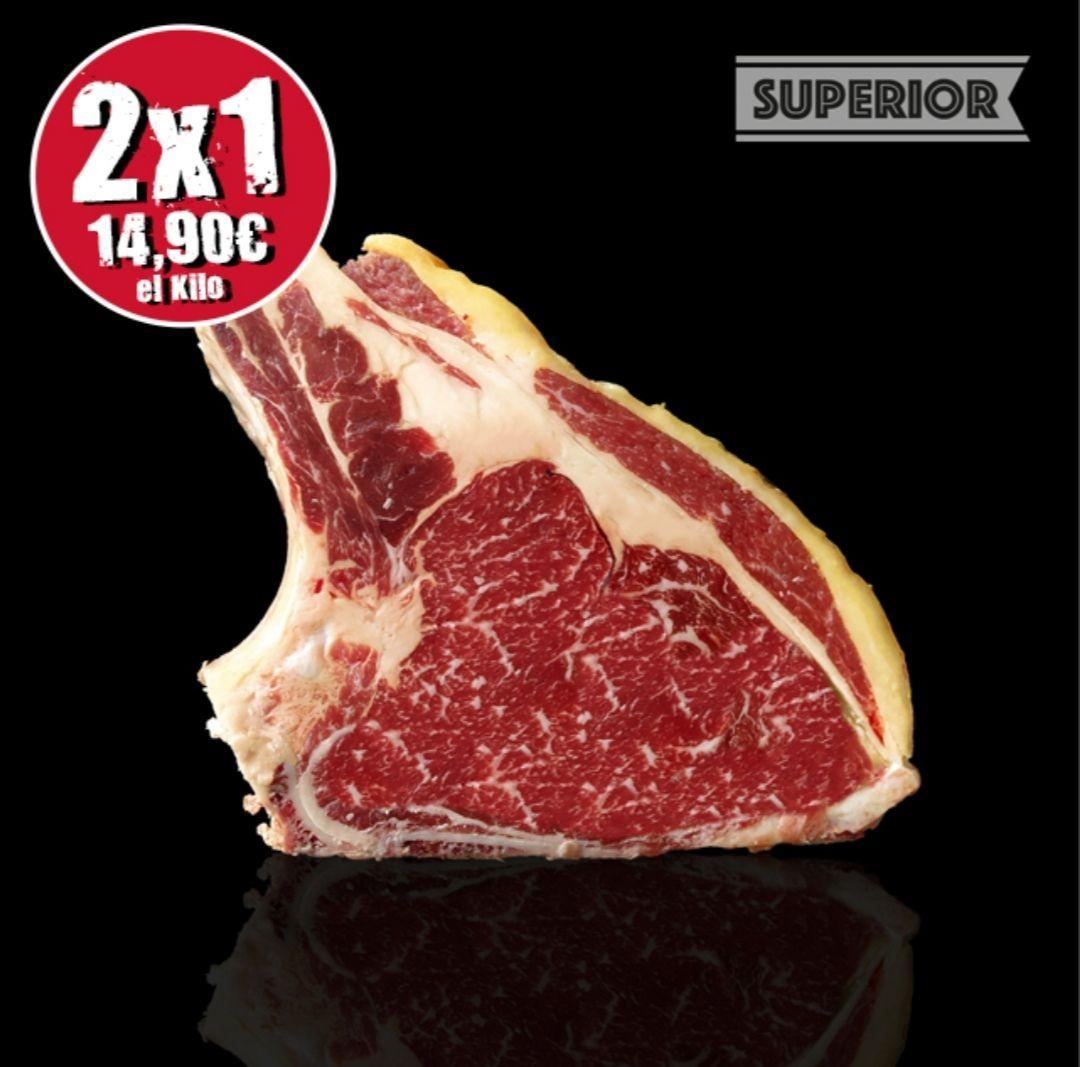 Chuleta de vaca superior. Pedido mínimo 50 euros.
