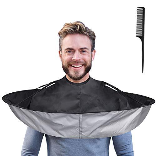 Lictin Capa de Peluquería-65cm Capa de Corte de Pelo Impermeable con Peine Puntiagudo