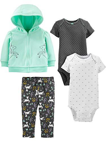 Simple Joys by Carter's conjunto para bebes de 4 piezas para niñas tamaño 3-6 meses