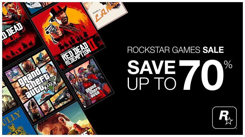 %70 en los Videojuegos Rockstar GTAV,III,Red Dead II (€3,70-€5)